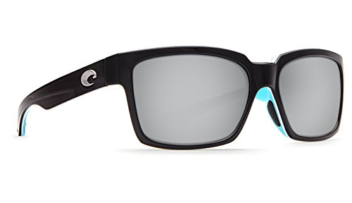Costa Del Mar PLAYA Sunglasses Black/White/Aqua Silver Mirror 580 - Girl Sunglasses Costa