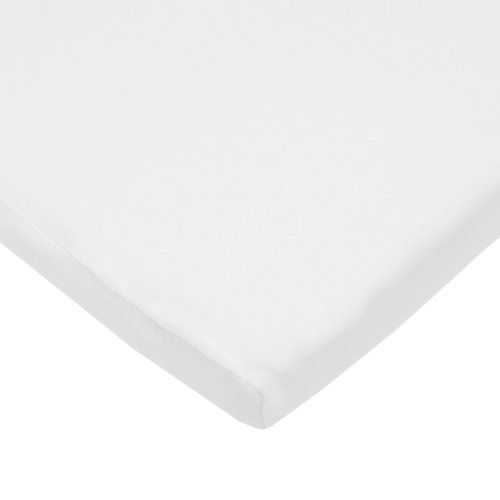TL Care 100% Natural Cotton Value Jersey Knit Fitted Bassinet Sheet, White, Soft Breathable, for Boys and Girls