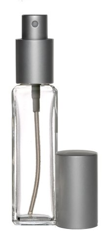 Edp Bottle (Riverrun Perfume/Cologne Atomizer Empty Refillable Slim Glass Bottle Matte Silver Fine Mist Sprayer 1 oz. 30ml (1 Bottle))