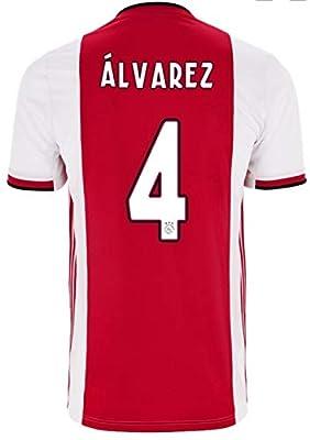 Soccer New Ajax Rojo Red Alvarez Home 2019-2020 Jersey