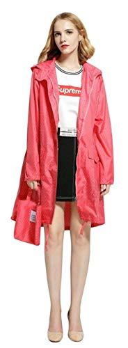Extérieur Capuche Raincoat Chics Poncho De Vêtement Vêtements Yasminey Serrage Mesdames Imperméable red Watermelon Pois Avant Cordon Poches Avec wzOXP