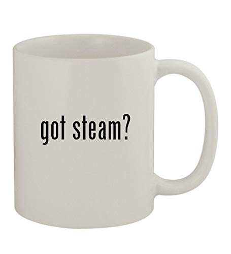 got steam? - 11oz Sturdy Ceramic Coffee Cup Mug, White
