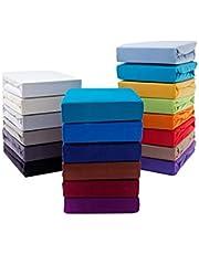 Premium boxspringbed hoeslaken hoeslaken water- en boxspringbedden 190 g/m² Öko-Tex Standard (Nougatbruin, 180-200 x 200-220 cm (BxL) matrasdikte tot 40 cm)