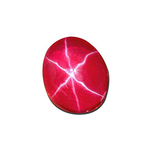 5.00 Ct. Red Star Ruby Excellent Oval Cabochon Loose Gemstone for Sale