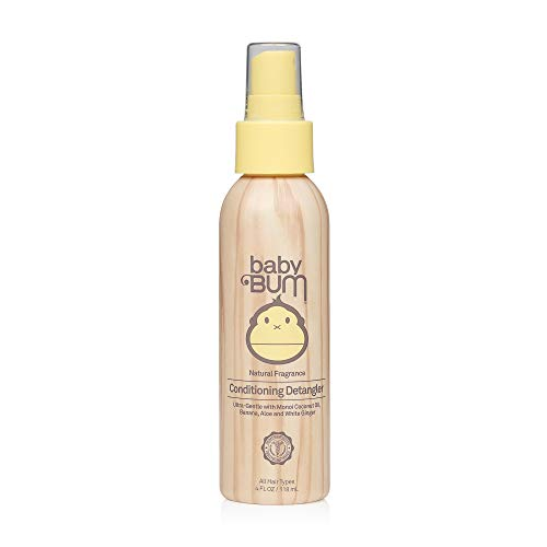 Baby Bum Conditioning Detangler Spray - Leave-in Conditioner - Natural Fragrance - Gentle & Safe with Soothing Coconut Oil - 4 FL OZ