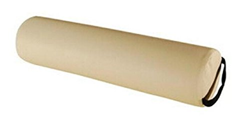 Mainlead Massage Yoga Full Round Bolster Beige 6'' X 26'' with Strap Handle by Mainlead