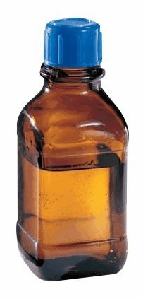 Wheaton 844030 Amber Glass Safety Bottle, USP Type 3, Round, 2500 mL, 45 mm Cap Cole-Parmer