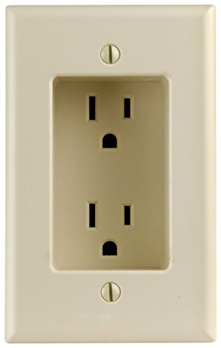 1-Gang Recessed Duplex Receptacle, Residential Grade, with Screws Mounted To Housing, 10 Pack, Ivory ()
