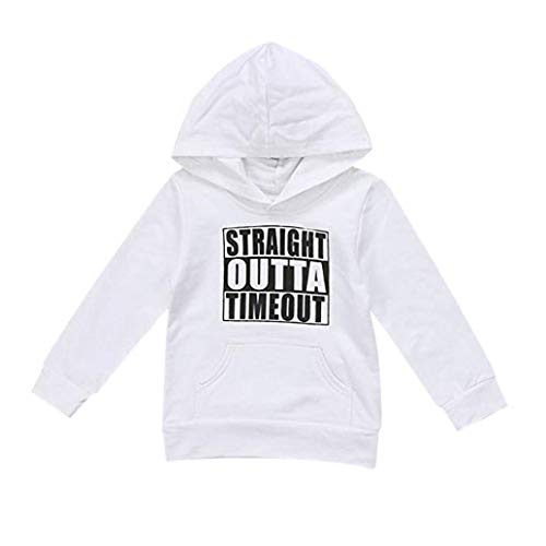 - Toddler Baby Girls Hoodie,Spring Fall Sweatshirts Letter Print Hooded Pullover Blouse Top by Lowprofile(24M-4T) White