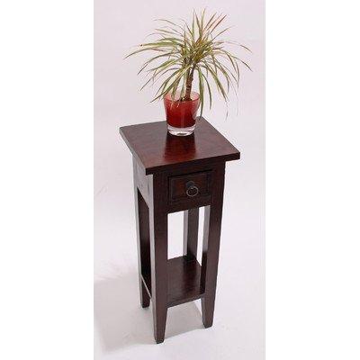Mahagoni Beistelltisch Telefontisch Tisch, 67x25x25cm ~ braun