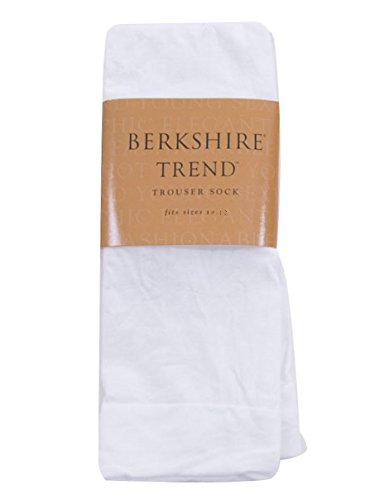 Sheer Silky Queen Berkshire (Berkshire Queen Trend Opaque Trouser Socks - Sandalfoot, White, Queen Size)