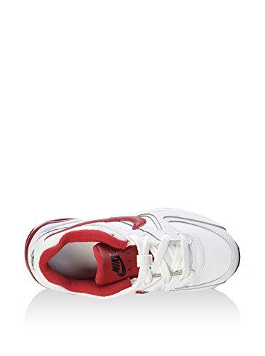 Nike 844353-161, Zapatos de Primeros Pasos Bebé-Niño, Blanco (White / Gym Red / Black), 27.5 EU