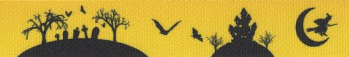 Country Brook Design 7/8 Inch Halloween Night Grosgrain Ribbon Closeout, 10 Yards -