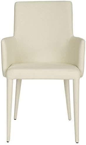 Safavieh Home Collection Summerset Mid-Century Modern Beige Linen Arm Chair