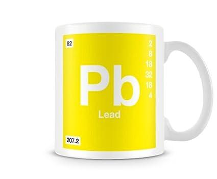 Periodic Table Of Elements 82 Pb Lead Symbol Mug Amazon Home