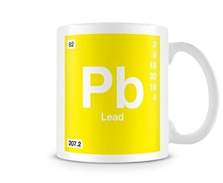 Periodic Table Of Elements 82 Pb Lead Symbol Mug Amazon