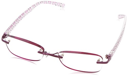 Foster Grant Women's Daniella Rimless Reading Glasses,Purple,2.75