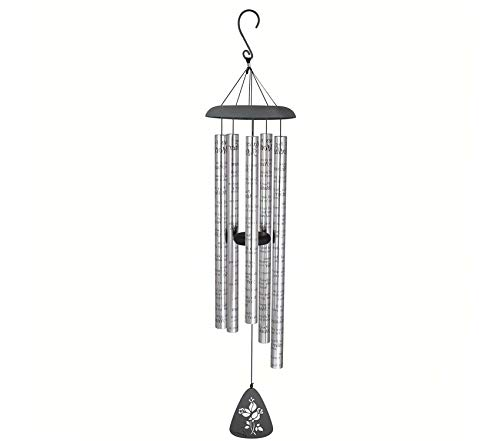 Premium Sonnet Wind Chime, 44-Inch Length, Roses for Mother -
