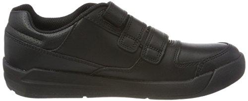 Clarks Flare Lite Jnr, Zapatillas Para Niños Negro (Black Leather)