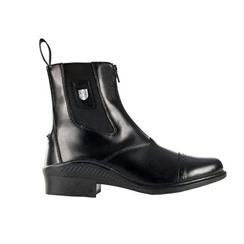 HORZE Sydney Leather Front Zip Jodhpur Boots - Black - 39