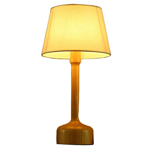 GL&G Creative fashion real wood desk study room cafe home decoration bedside lamp LED eye protection reading lamp,A,532326cm by GAOLIGUO