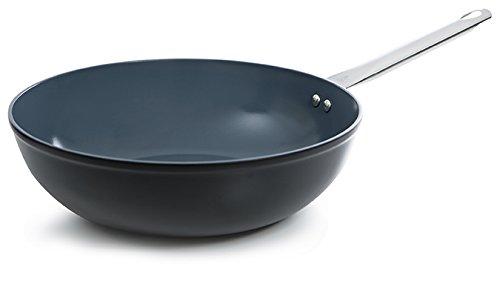 Batería de Cocina BK b2468, 950 30 cm Wok de cerámica para Cocina de inducción: Amazon.es: Hogar