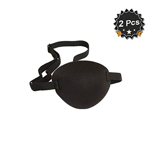 Pirate Eye Patch Eye Mask for Kids Adult,Pack of 2 -