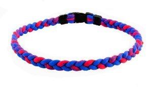 Titanium Tornado Baseball/Softball Sport Necklace Red/Blue 20