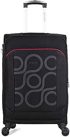 Giordano Softside Spinner Trolley Bag for Unisex, Black, 20 Inch