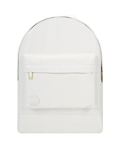 Mi-Pac Unisex Tumbled Backpack In White White by Mi-Pac