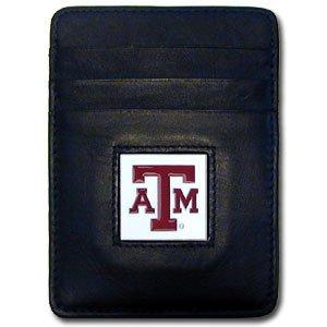 Siskiyou NCAA Texas A&M Aggies Leather Money Clip/Cardholder ()