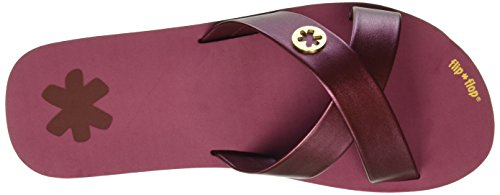 flip*flop Original Cross Metallic - Mules Mujer Rojo - Rot (Sangria 654)