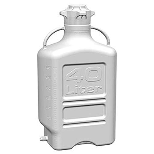 (EZgrip 40L (10 Gal) Autoclavable Polypropylene Space Saving Carboy with Wide Mouth 120mm VersaCap and 50L Max Capacity)
