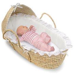 Natural Hooded Moses Basket ()