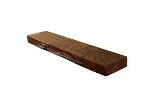Floating, Wood Shelf, Reclaimed , Rustic, Shelves, 1800's, Antique, Vintage, 24' wide x 5' deep x 2' thick