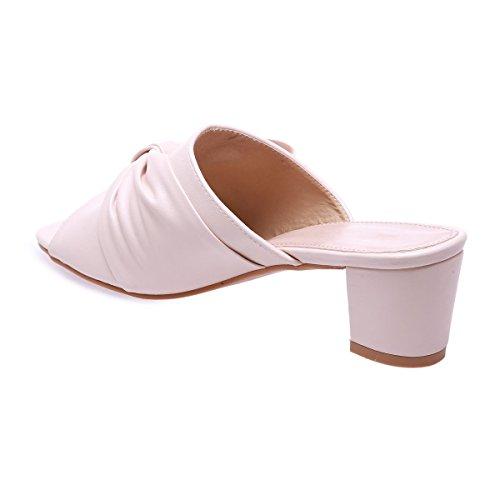 La Modeuse - Sandalias para mujer Beige