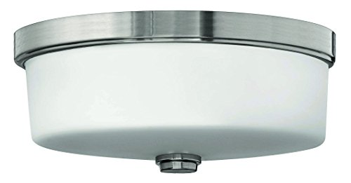 Hinkley 5421BN Transitional Three Light Bath Flush Mount from Flush Mount collection in Pwt, Nckl, B/S, Slvr.finish, (Outdoor Mount Hinkley)