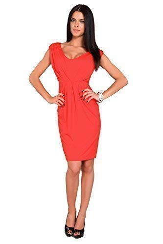 Tulipe 8 Dcontract Taille Corail sans FUTURO V Col Femmes 18 avec Robe FASHION UK Style Manche 8437 CwBxqBtS7