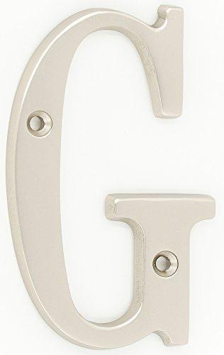 ZW Hardware B100 4 Inch Brass Matt Nickel Plated House Letter G ()