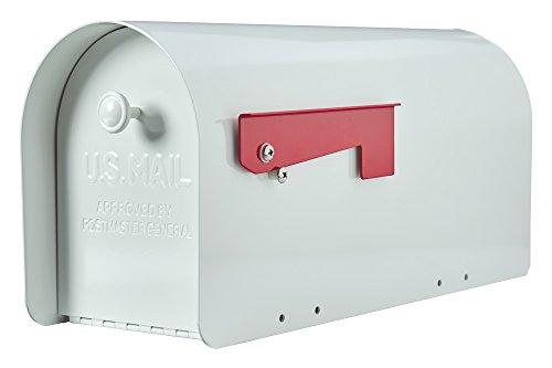 Gibraltar Tuff Body Large Capacity Galvanized Steel White, Post-Mount Mailbox, TB1W0000