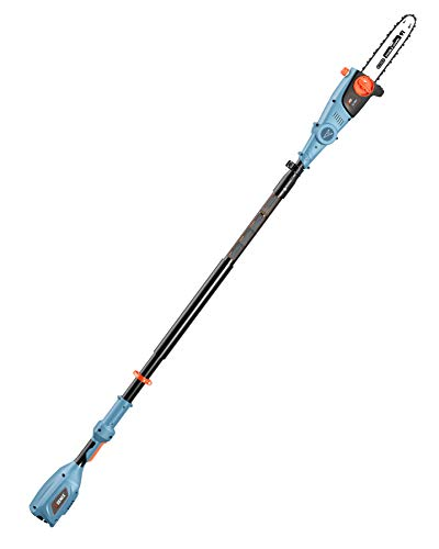 - SENIX CSPX5-M-0 10 Inch 58V Cordless Pole Saw to Reach Branches up to 14 Feet Above, Blue