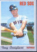 1970 O-Pee-Chee Regular (Baseball) card#340 Tony Conigliaro of the Boston Red Sox Grade Excellent to Excellent Mint