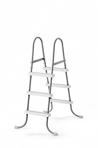 Intex Steel Frame Above Ground Swimming Pool Ladder for 42 Wall Height Pools