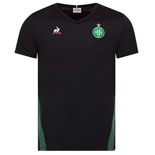 Le Coq Sportif 2018-2019 St Etienne Training Football Soccer T-Shirt Jersey (Black)