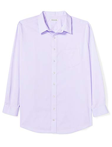 Amazon Essentials Mens Big & Tall Wrinkle-Resistant Long-Sleeve Solid Dress Shirt fit by DXL