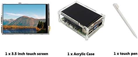 Tivollyff Raspberry Pi 4モデルB 3.5インチLCDタッチディスプレイ+タッチペン+アクリル透明ケース50 FPS SPI高リフレッシュレート