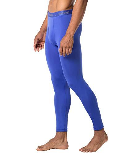 LAPASA Men's Lightweight Thermal Underwear Pants Fleece Lined Long Johns Leggings Base Layer Bottoms 2 Pack M10 (Medium, ()