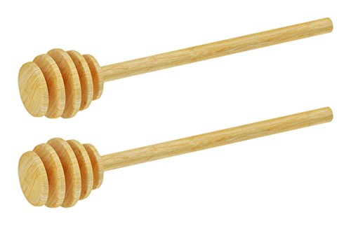 """Set of 2 Blake & Croft Everyday Essentials Wooden Vintage 6"""" Honey Dipper - 6""""(15cm) - A Must-have for All Honey Lovers!"""