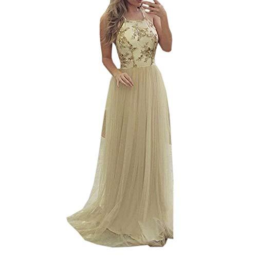 Clearance Sale£¡£¡Elevin(TM) Long Dresses Women Casual Evening Party Dress Gown Lace Chiffon Flora Long Sleeve Cocktail Dress by Elevin(TM) _ Women Formal Dress (Image #6)