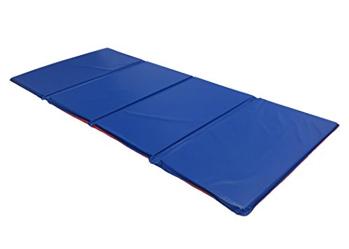 (KinderMat Basic Rest Mat, 5/8 Inch Size, Red/Blue, 4-Section, KM100)